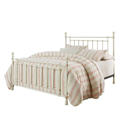 Standard Furniture Bennington White Metal Bed in Antique French Bisque