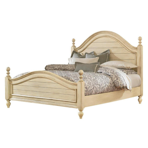 Standard Furniture Bennington White Poster Bed in Antique French Bisque