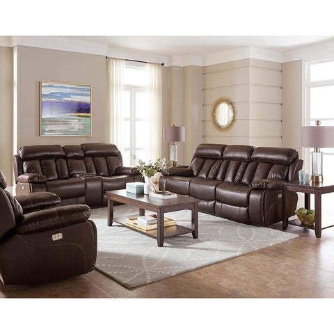 Standard Furniture Bowmen 3 Piece Brown Polyester Power Headrest Living Room Set
