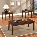 Standard Furniture Brantley 3-Pack Coffee Tables in Cherry Chocolate
