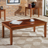 Standard Furniture Brantley 3-Pack Coffee Tables in Tawny Golden Oak