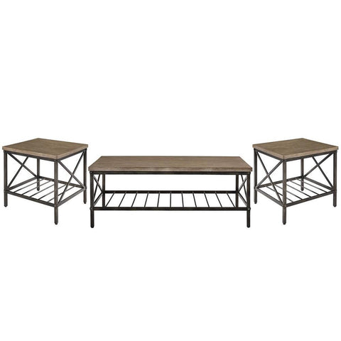 Standard Furniture Brendon 3 Piece Coffee Table Set in Brown