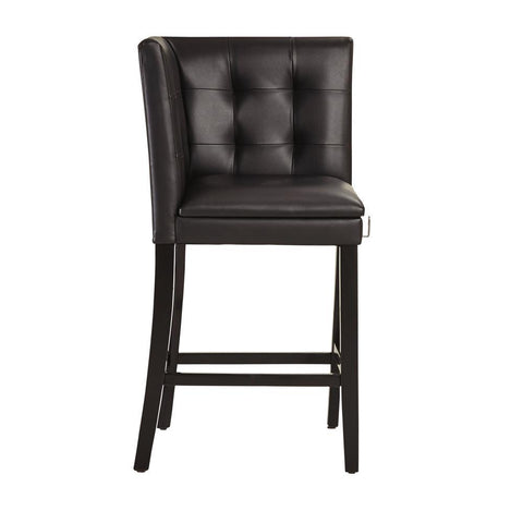 Standard Furniture Caspian Black Tufted Counter Height Corner Chair