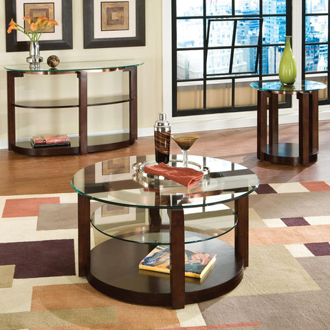 Standard Furniture Coronado 3 Piece Coffee Table Set in Cherry