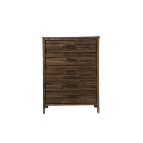 Standard Furniture Cresswell Brown 5-Drawer Chest