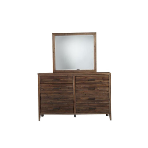 Standard Furniture Cresswell Brown 8-Drawer Dresser w/Mirror