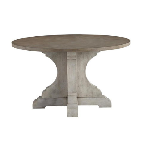 Standard Furniture Dakota Grey 52 Inch Round Pedestal Dining Table