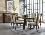 Standard Furniture Dumont 6 Piece Live Edge Glass Dining Room Set