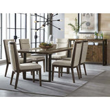Standard Furniture Dumont 8 Piece Live Edge Glass Dining Room Set