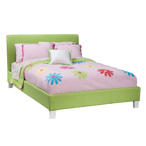 Standard Furniture Fantasia Upholstered Platform Bed in Green