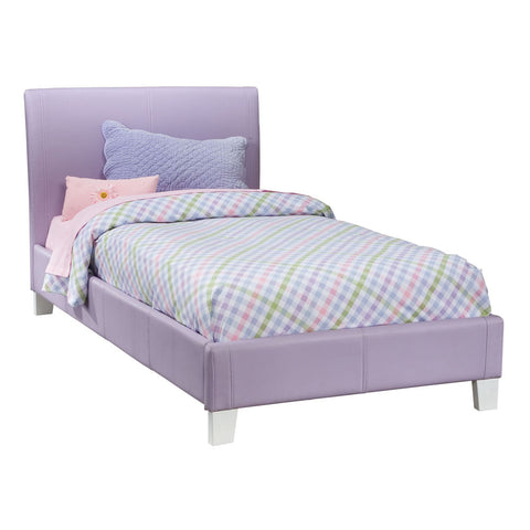 Standard Furniture Fantasia Upholstered Platform Bed in Lavender