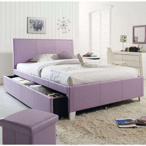 Standard Furniture Fantasia Upholstered Trundle Bed in Lavender