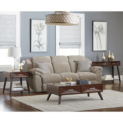 Standard Furniture Forsythe 3 Piece Coffee Table Set in Dark Merlot