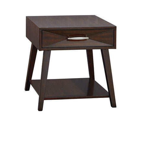Standard Furniture Forsythe End Table in Dark Merlot