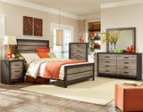 Standard Furniture Fremont 5 Drawer Chest in Dark & Smoky Weathered Oak