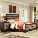 Standard Furniture Fremont Panel Bed in Dark & Smoky Weathered Oak