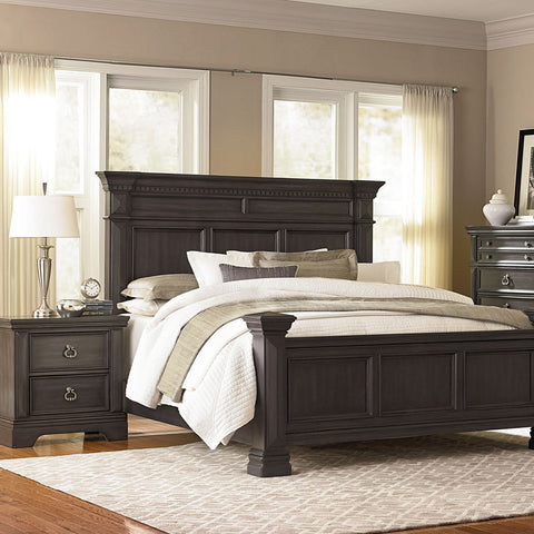 Standard Furniture Garrison 2 Piece Panel Bedroom Set in Grey