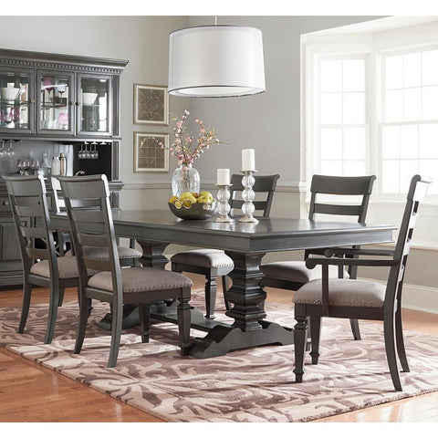 Standard Furniture Garrison 7 Piece Trestle Dining Room Set