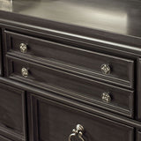 Standard Furniture Garrison 8 Drawer Dresser w/ Mirror in Grey