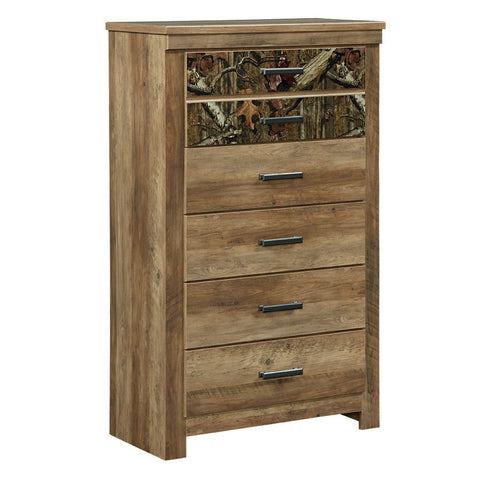 Standard Furniture Habitat 5 Drawer Chest in Buckskin Pine