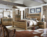 Standard Furniture Habitat 6 Drawer Dresser & Mirror in Buckskin Pine