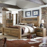 Standard Furniture Habitat Poster Bed in Buckskin Pine