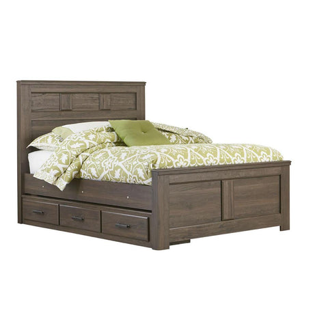 Standard Furniture Hayward Panel Bed in Dark Brown Weathered