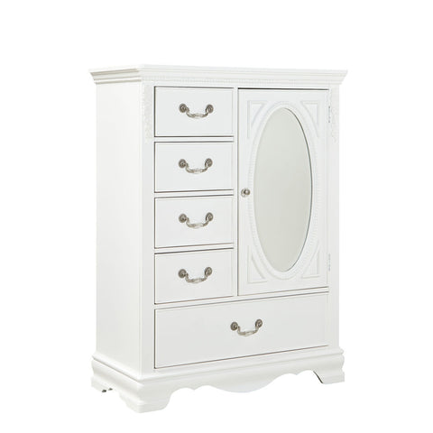 Standard Furniture Jessica 5 Drawer Kids' Wardrobe in White