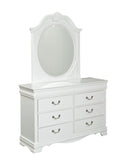 Standard Furniture Jessica 6 Drawer Kids' Dresser in White