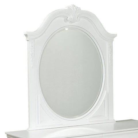 Standard Furniture Jessica Oval Kids' Mirror in White