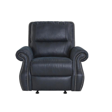 Standard Furniture Kingston Navy Motion Glider Recliner