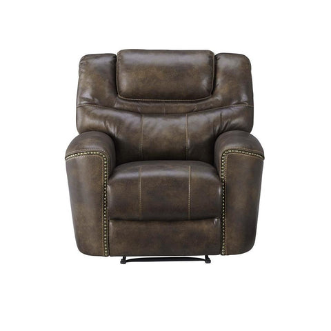 Standard Furniture Kobe Brown Polyester Power Glider Recliner