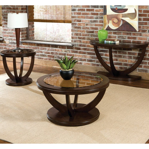 Standard Furniture La Jolla 3 Piece Coffee Table Set in Cherry