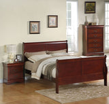 Standard Furniture Lewiston 3 Piece Panel Bedroom Set in Deep Brown