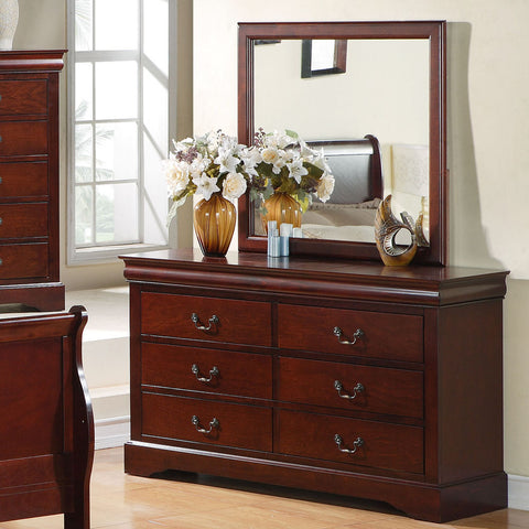 Standard Furniture Lewiston Dresser w/ Mirror in Deep Brown