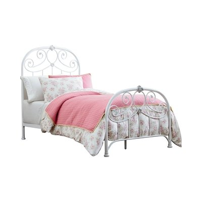 Standard Furniture Lillian Metal Bed in White