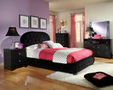 Standard Furniture Marilyn Black Rectangular Mirror in Glossy Black