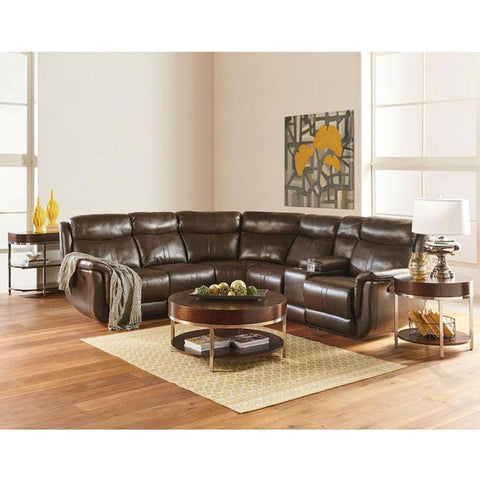 Standard Furniture Mira 3 Piece Coffee Table Set in Tobacco Brown