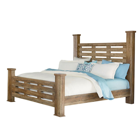 Standard Furniture Montana Poster Bed in Pine