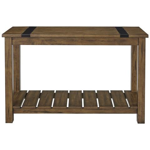 Standard Furniture Nelson Distressed Brown Console Table