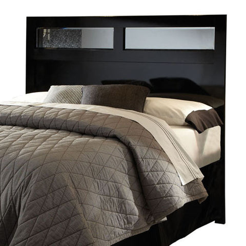 Standard Furniture Parisian Panel Headboard w/ Inset in Black