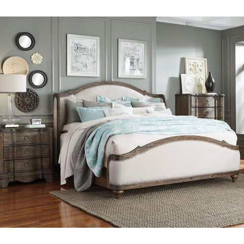 Standard Furniture Parliament 3 Piece Upholstered Platform Bedroom Set in Dusty Brown