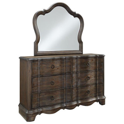 Standard Furniture Parliament Dresser w/Mirror in Dusty Brown