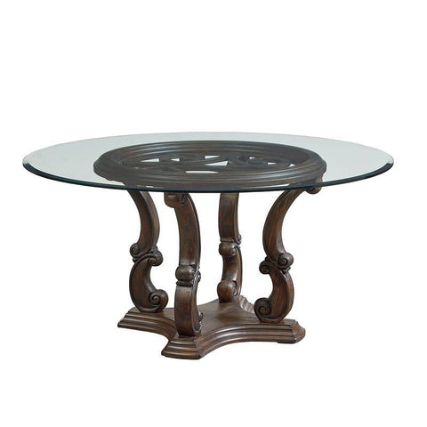 Standard Furniture Parliament Round Glass Top Dining Table