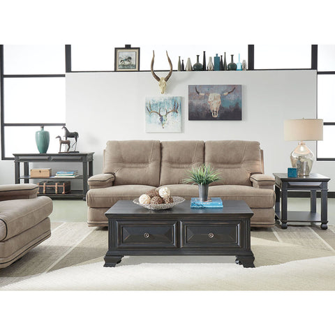 Standard Furniture Passages 3 Piece Coffee Table Set in Vintage Black