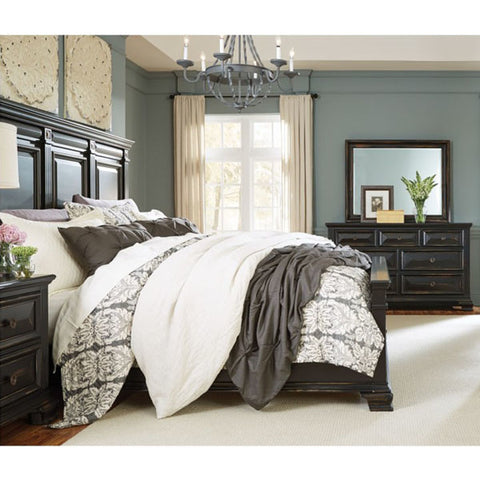 Standard Furniture Passages 3 Piece Panel Bedroom Set in Black