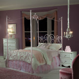 Standard Furniture Princess Canopy Bed in Pink Metal