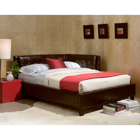 Standard Furniture Rochester Cornerbeds Daybed in Brown PVC Fabric