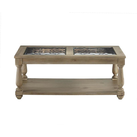 Standard Furniture Savannah Glass Coffee Table in Brown