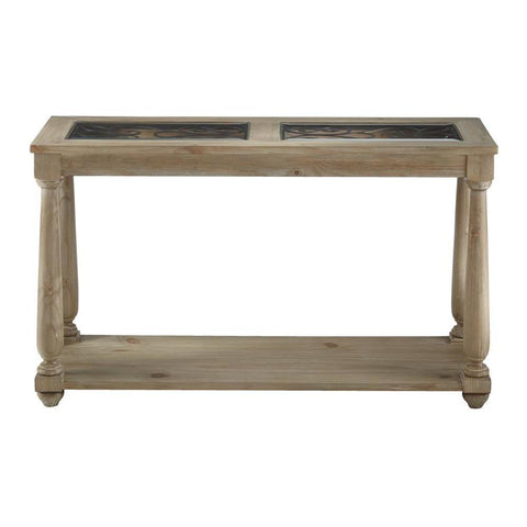 Standard Furniture Savannah Glass Sofa Table in Brown